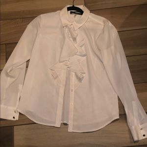 Karl Lagerfeld ruffle button up top